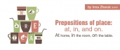 Prepositions of place: at, in, and on (English-Russian)