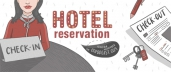 Hotel Reservation: Reservation, Check-in, Check-out