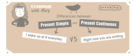 Difference between Present Simple and Present Continuous