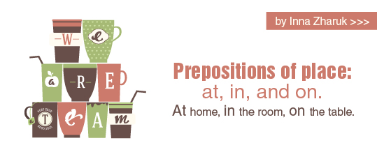 Prepositions of place: at, in, and on