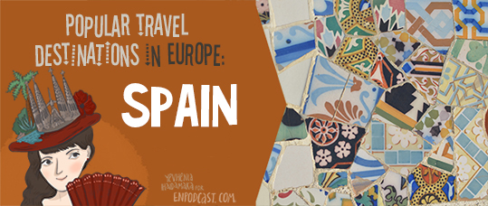 Popular Holiday Destinations in Europe. Spain